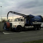 Cleaning digester at a treatment plant