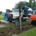 Potholing utilities prior to storm installation